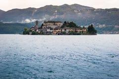 Lake Orta, San Giulio Island Stock Images