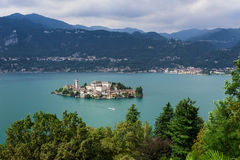 Lake Orta, San Giulio Island Royalty Free Stock Photo