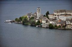 Lake Orta, San Giulio island, Italy Stock Images