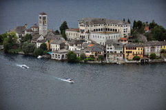 Lake Orta, San Giulio island, Italy Royalty Free Stock Image