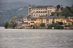 Lake Orta, San Giulio island, Italy Stock Image