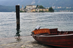 Lake Orta, San Giulio island, Italy Stock Photos