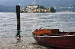 Lake Orta, San Giulio island, Italy Stock Photos