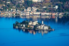 Lake Orta, San Giulio island, Italy Royalty Free Stock Photo