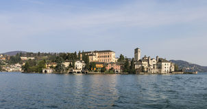 Lake Orta - San Giulio Island Royalty Free Stock Photo
