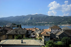 Lake Orta Village Stock Image
