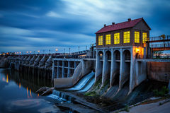 Lake Overholser Dam in Oklahoma City Royalty Free Stock Photos