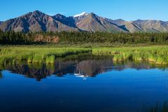 Lake på Alaska Arkivbild