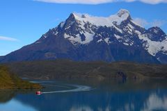 Lake Pahoe ,Torres del Paine royalty free stock photo