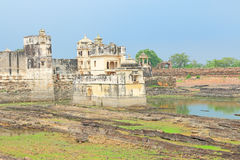 Lake palace in massive Chittorgarh Fort and grounds rajasthan in Royalty Free Stock Image