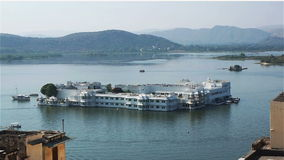 Lake Palace in Udaipur. Rajasthan, India stock footage