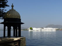 Lake Palace, Udaipur. A view of the Lake Palace on Pichola Lake, as seen from the City Palace Royalty Free Stock Photos