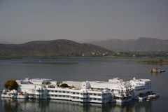 Lake Palace view from the City Palace. Udaipur. Rajasthan. India Royalty Free Stock Photography