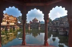 Lake Palace view. An historic Lake palace in Rajasthan India Stock Images