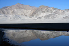 Lake on the Pamir plan Royalty Free Stock Photos