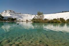 Lake of Pamukkale royalty free stock photos