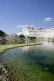 Lake in Pamukkale. Nature phenomenon. Turkey. Royalty Free Stock Photo