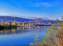 "Lake "" Pancharevo "" to Sofia, Bulgaria. Fotost filmed in 2018 royalty free stock photography"