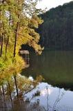 Lake pangung. Reflection on water surface Royalty Free Stock Photos