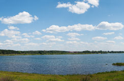 Lake panorama Stock Images