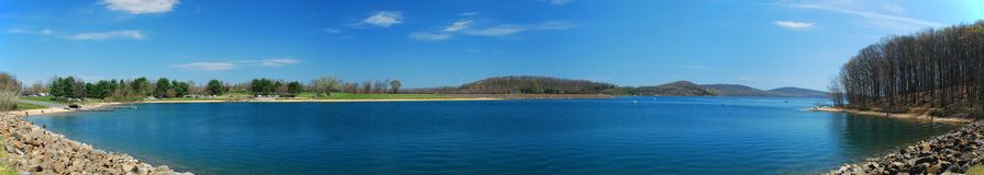 Lake panorama Stock Photo
