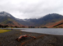 Lake panorama, Buttermere, England Royalty Free Stock Image