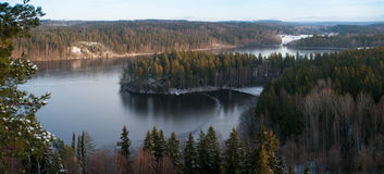 Lake panorama in Finland Stock Photo