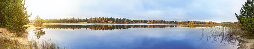 Lake panorama Stock Photography