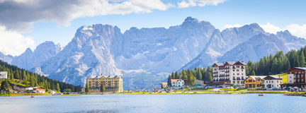A Lake panorama -Italy Stock Images
