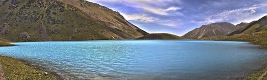 Lake panorama. Kel-Tor Lake panorama, Kyrgyzstan Stock Images