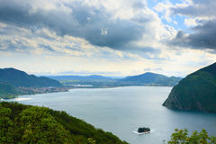 Lake panorama from Royalty Free Stock Photography