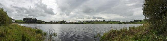 Lake panorama. Panoramic shot of irish lake Royalty Free Stock Image