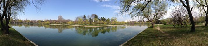 Lake panorama Royalty Free Stock Photo