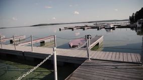 Lake Panorama. Pier. stock video footage