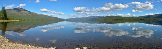 Lake panorama on the Putorana plateau. Royalty Free Stock Image