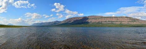 Lake panorama on the Putorana plateau. Stock Photography