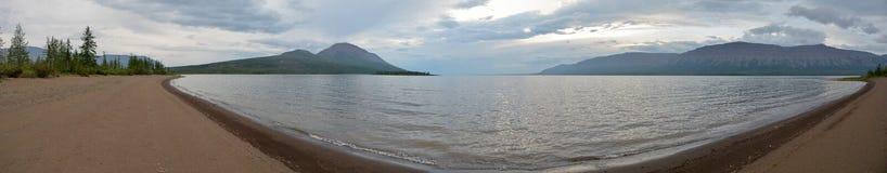 Lake panorama on the Putorana plateau. Stock Photos