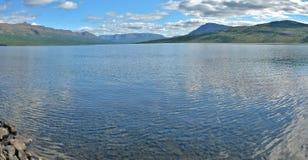 Lake panorama on the Putorana plateau. Royalty Free Stock Photos