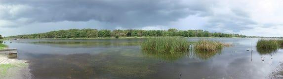 lake panorama- taylor Arkivfoton
