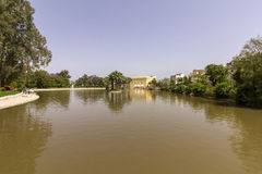 Lake panoramic of Jnan Sbil, Bou Jeloud Gardens, in Fez Stock Images