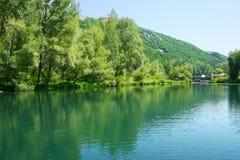 Lake in park stock photos