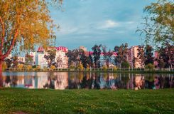 Lake and park in Batumi city Royalty Free Stock Photography