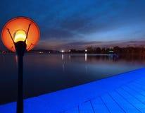 Lake Park at dusk Royalty Free Stock Image