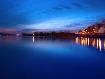 Lake Park evening. Evening in Lake Park ,wuxi, China royalty free stock photo