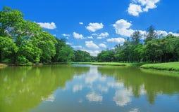 Lake Park Garden Stock Image