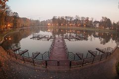 Lake in park, Kaliningrad Stock Photography