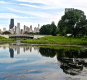 The Lake in the Park. The Lake in Lincoln Park, Chicago Stock Photography