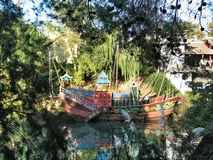 Lake in park Port Aventura Spain Royalty Free Stock Images
