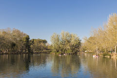 Lake in a park for recreation Stock Photography