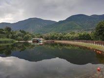 Lake in the park Rila, Dupnitsa, Bulgaria. Lake in the park Rila, Dupnitsa Royalty Free Stock Photos